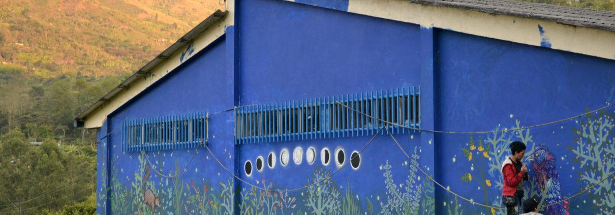 Mural de Animalditas, foto por ellas mismas