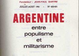 Argentine entre populisme et militarisme