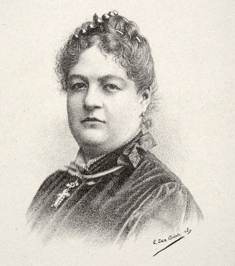 Figura 5. Evaristo San Cristobal, Retrato de Clorinda Matto de Turner 1889.