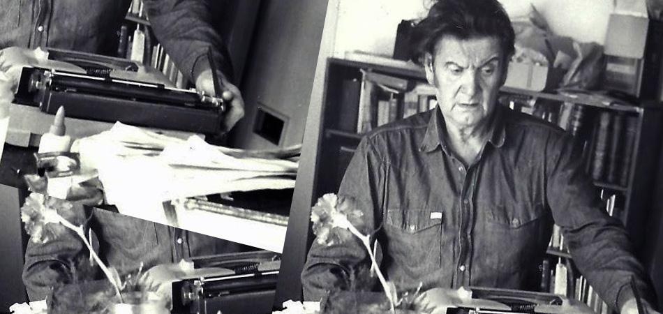 Edgard Bayley en su lugar de trabajo (Fuente: http://www.fracturaexpuesta.com.ar)