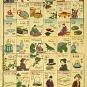 """Ryūkō eigo zukushi"" (""Colección de palabras inglesas de moda""), grabado sobre madera, Kamekichi Tsunajima, 1887."
